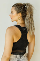 mode, mesh active cropped tank