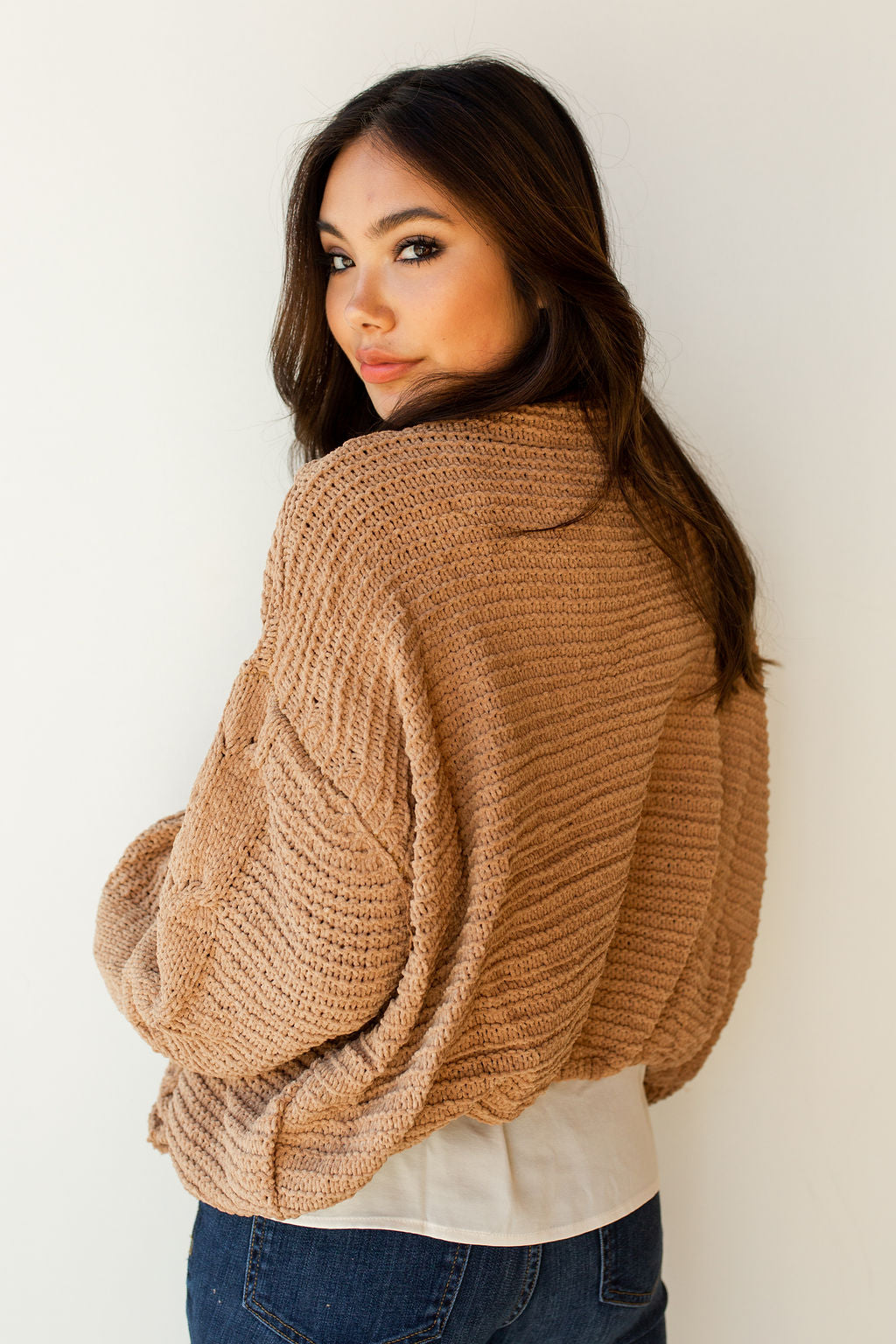 mode, scandi open cable sweater