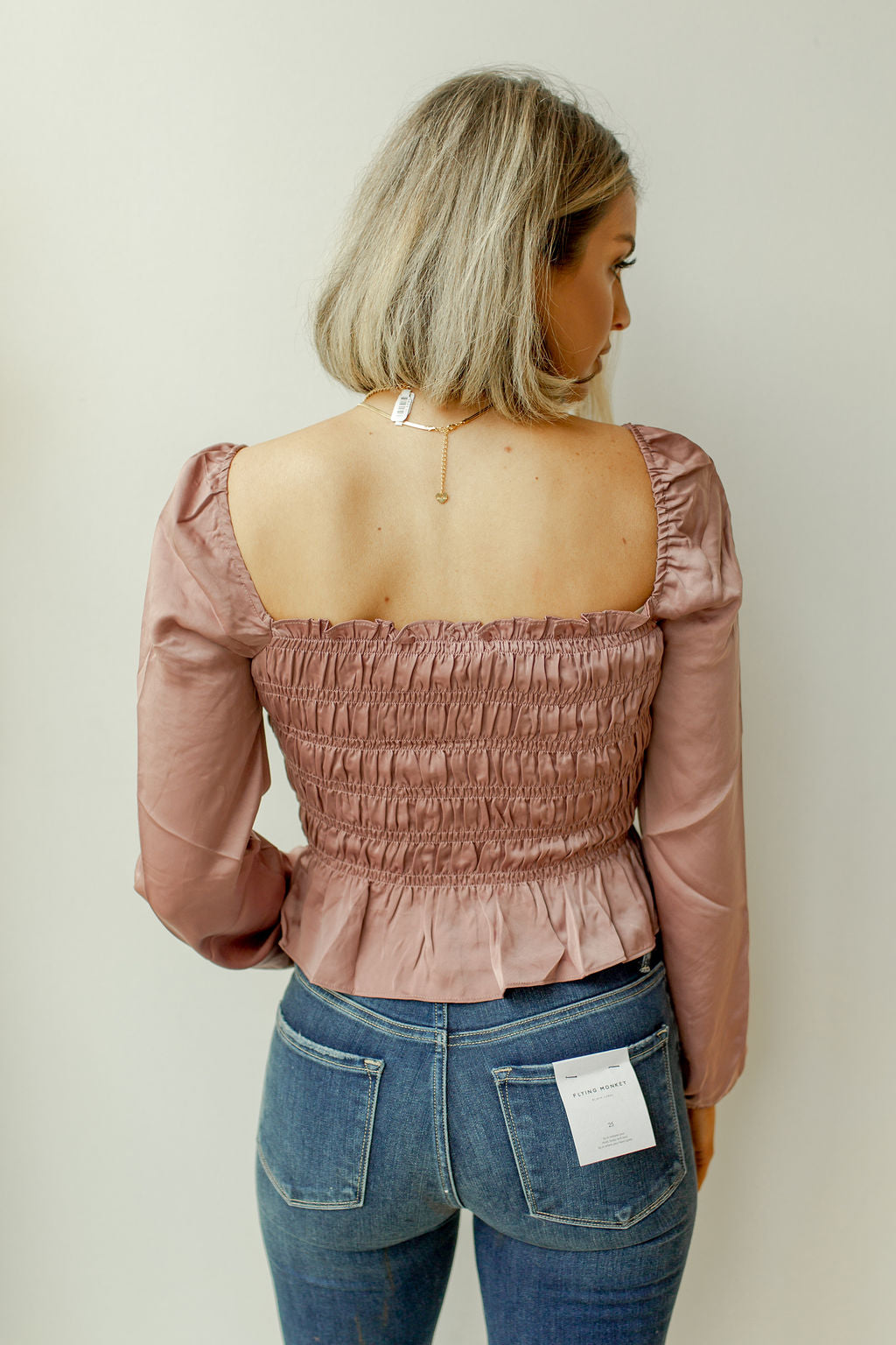 puff long sleeve blouse
