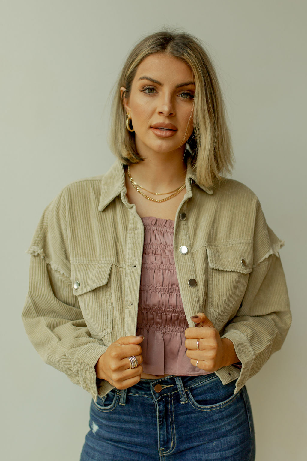 shreddin' cord crop jacket