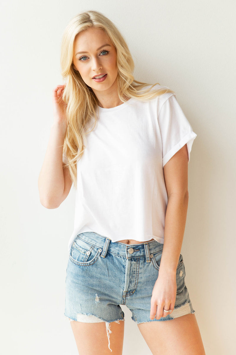 mode, tulip sleeve crop top