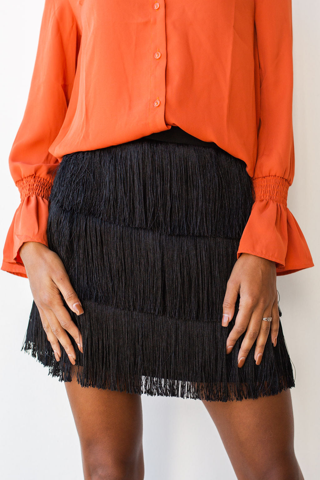 mode, fringe moves skirt