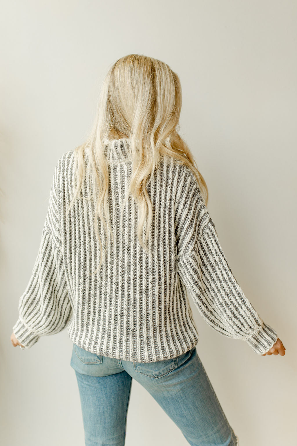bit of heaven two tone sweater
