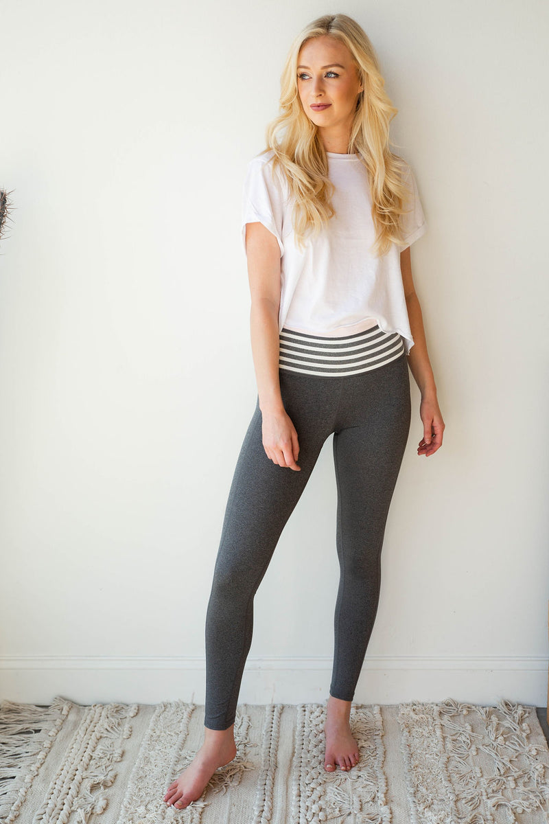 mode, highwaist stripes leggings