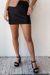 mode, wonderful day mini slip skirt