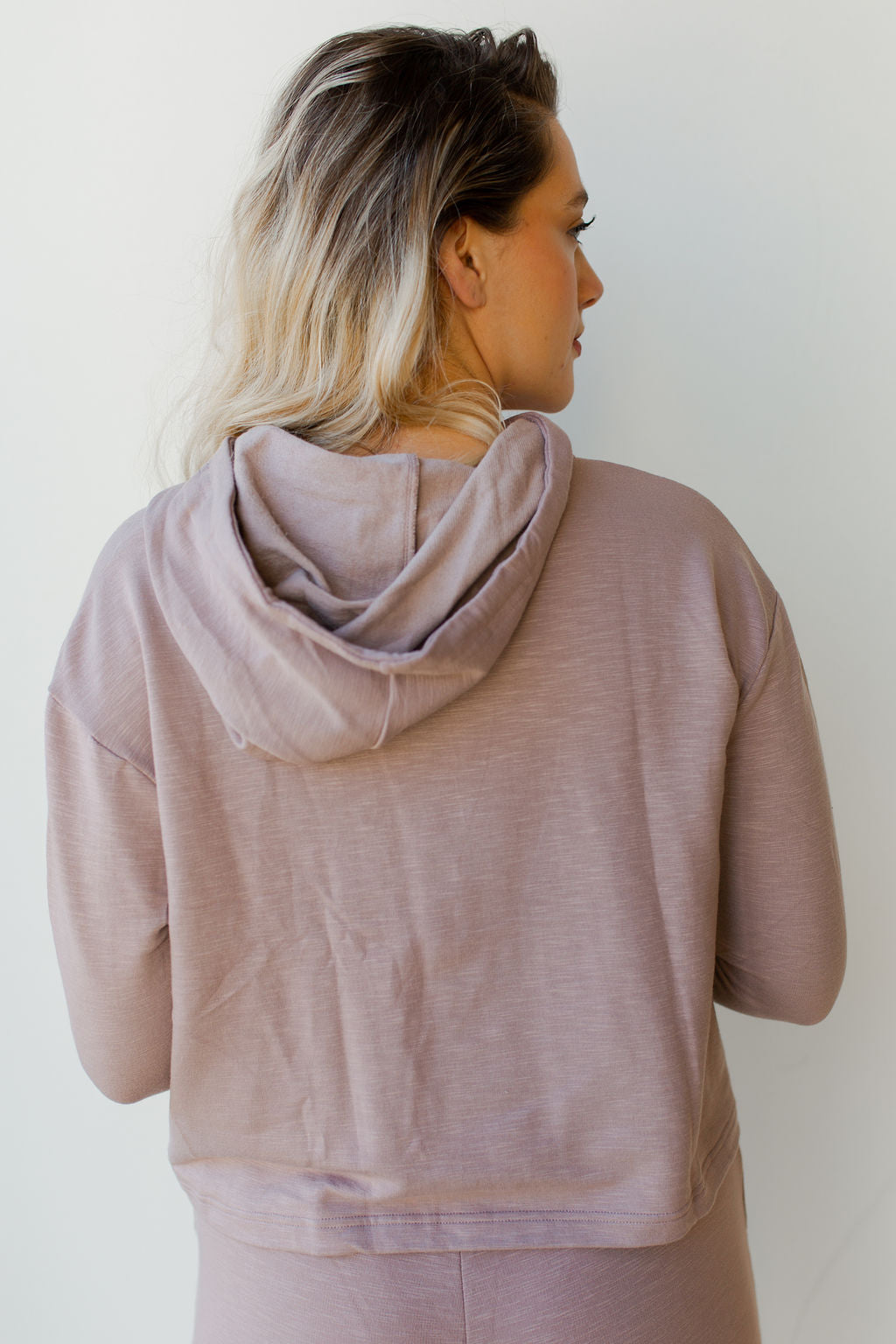 mode, hooded boxy sweatshirt