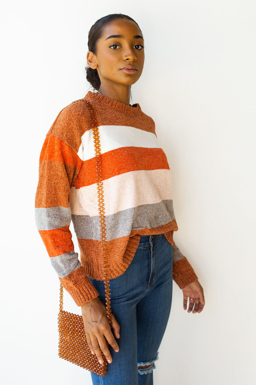 mode, A team bold stripes sweater