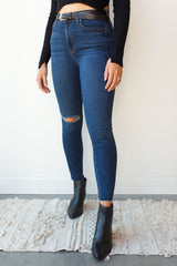 mode, aline high rise skinny