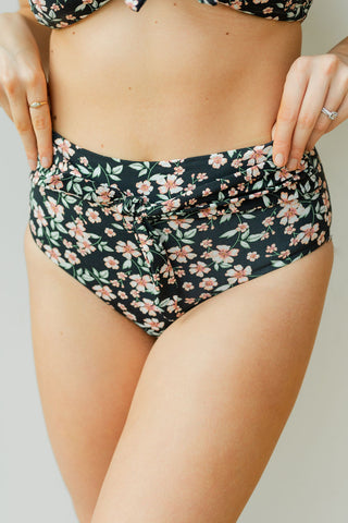 mode, itsy floral floral high waist swim