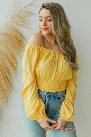 mode, golden rays crop blouse