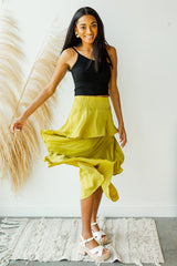 mode, confident steps layered skirt