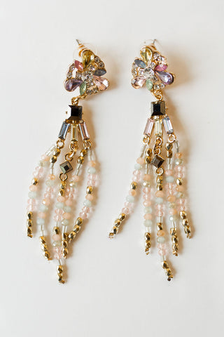 mode, floral shine earring
