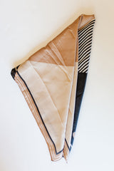 mode, cocoa stripes scarf