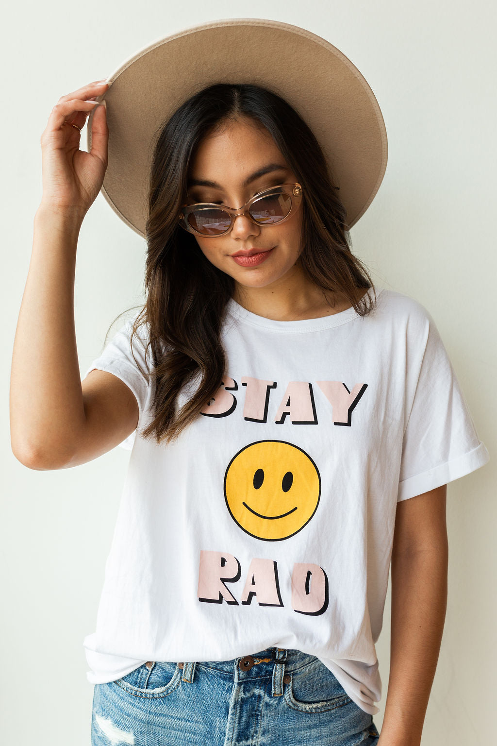 mode, stay rad tee
