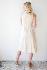 [shop name], linen safari midi dress