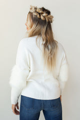 mode, the fur details sweater