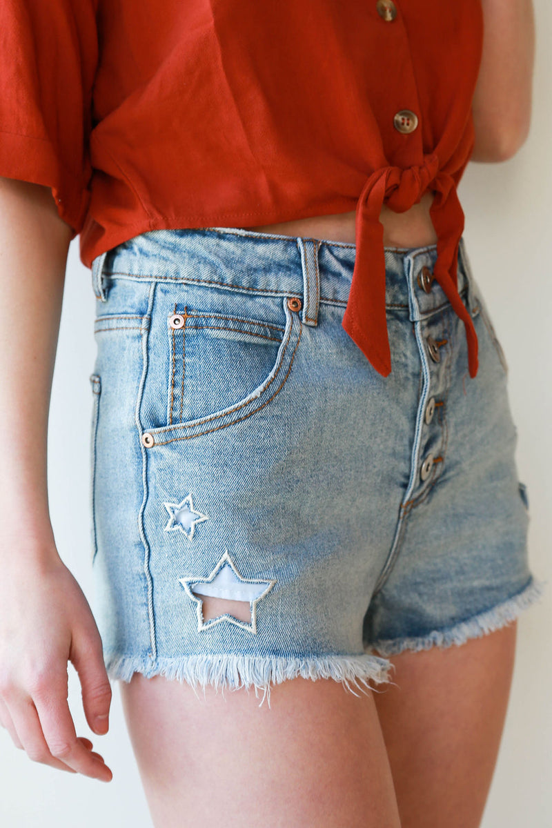 mode, for the weekend denim shorts