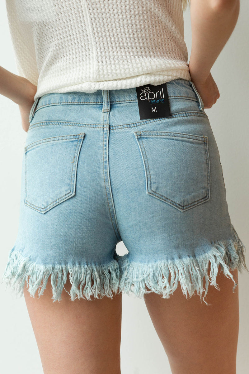 mode, Angie super fringe shorts