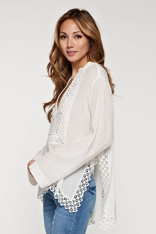 white noise lace up skirt