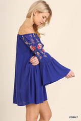 Paradise embroidered dress