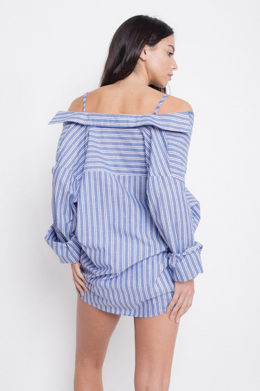 Mel striped blouse