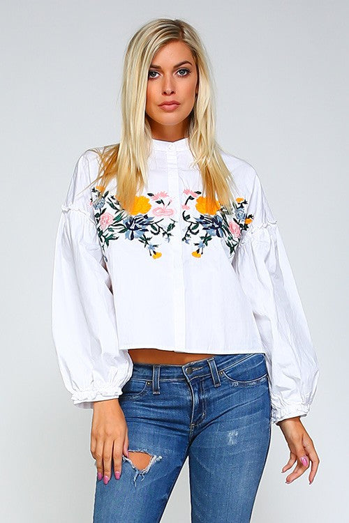 mode, Tira embroidered blouse