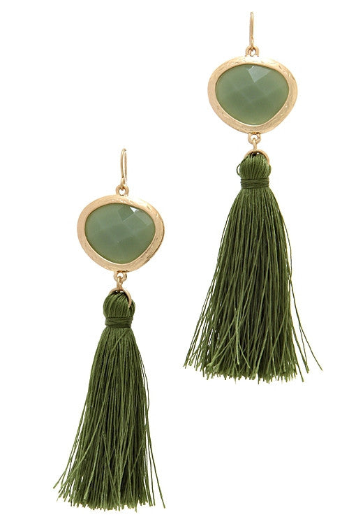mode, tassel jewel earrings