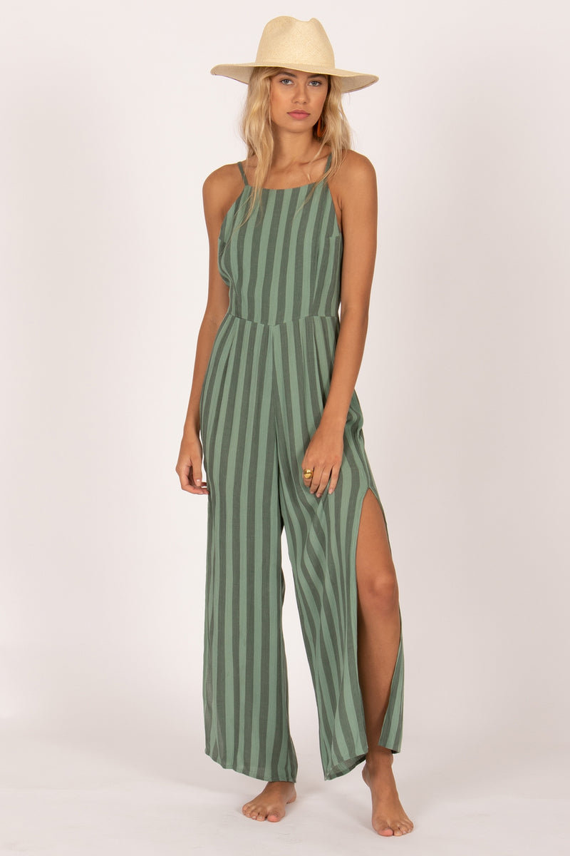 mode, golden hour woven jumpsuit