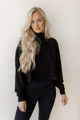 turtle neck crop pullover