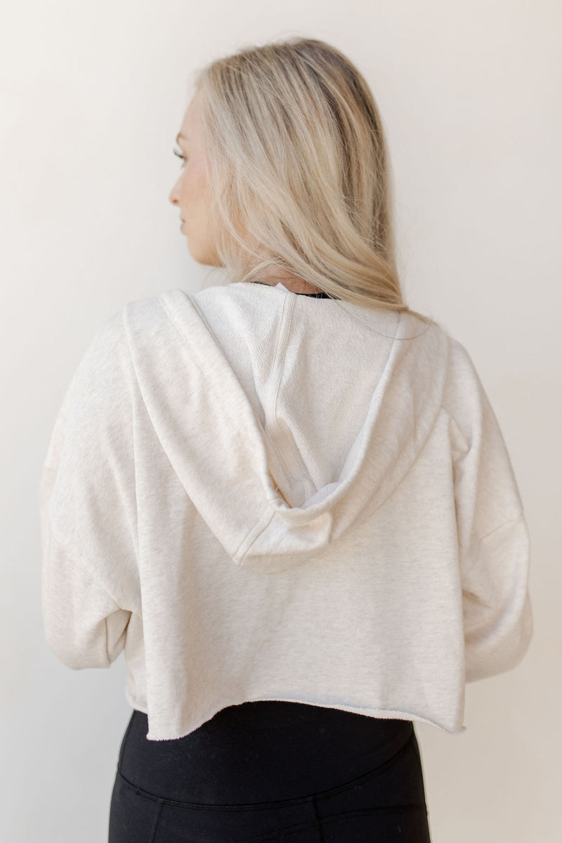 relaxed crop zip-up