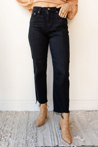 straight up high rise denim (curfew)