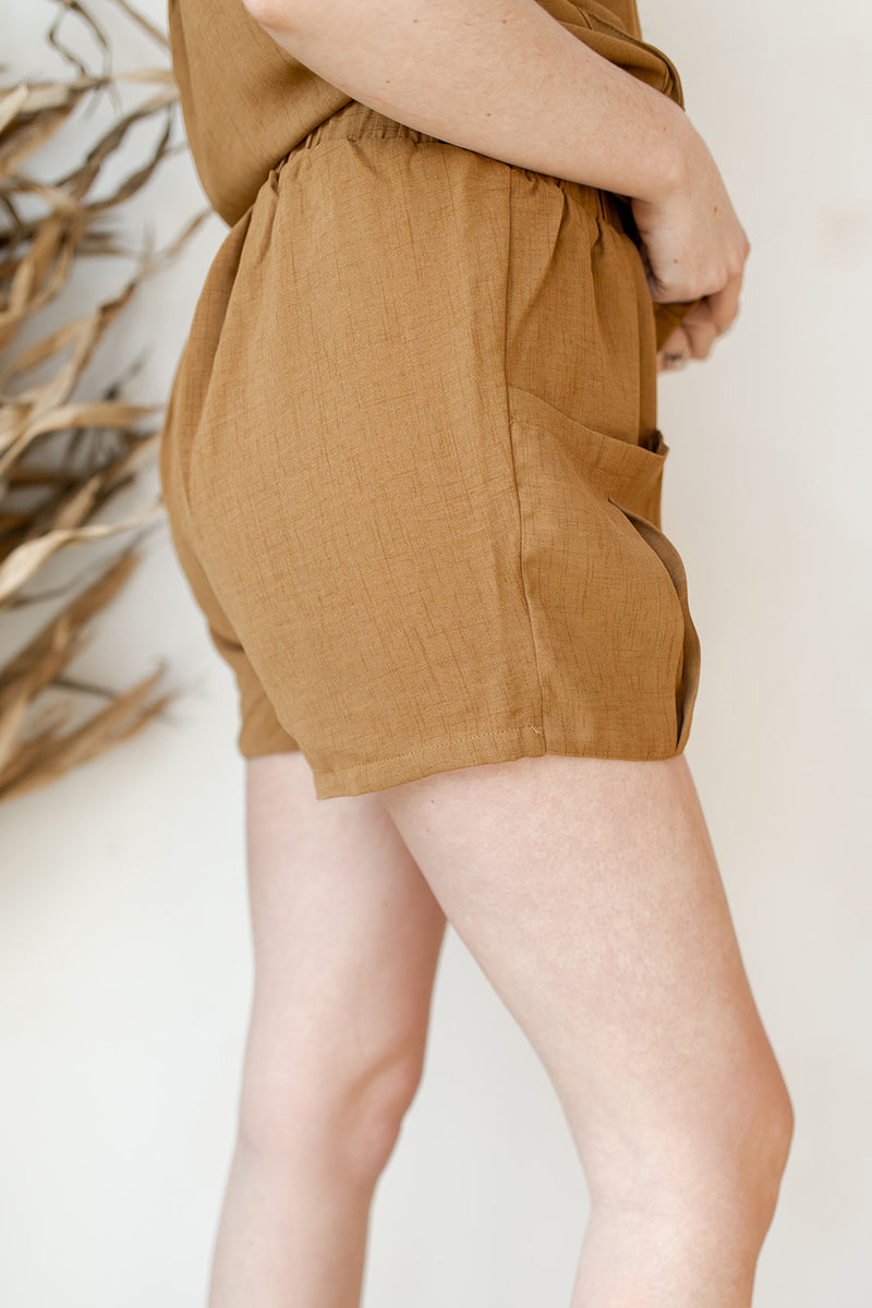 oversized pockets shorts