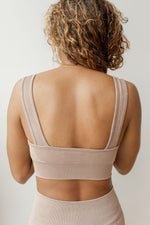 spliced seamless sports bra