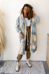 earth + sky long hoodie jacket
