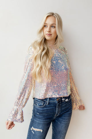 enchanted love sequin blouse