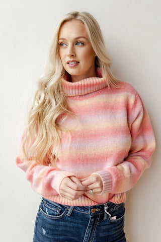 half zipper faux fur pullover
