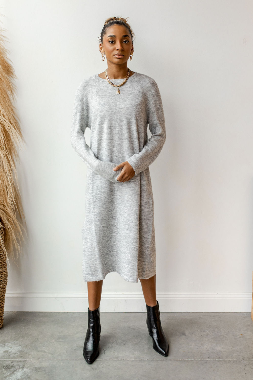 stepping out sweater dress