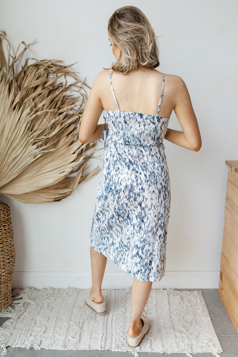Julia woven midi dress