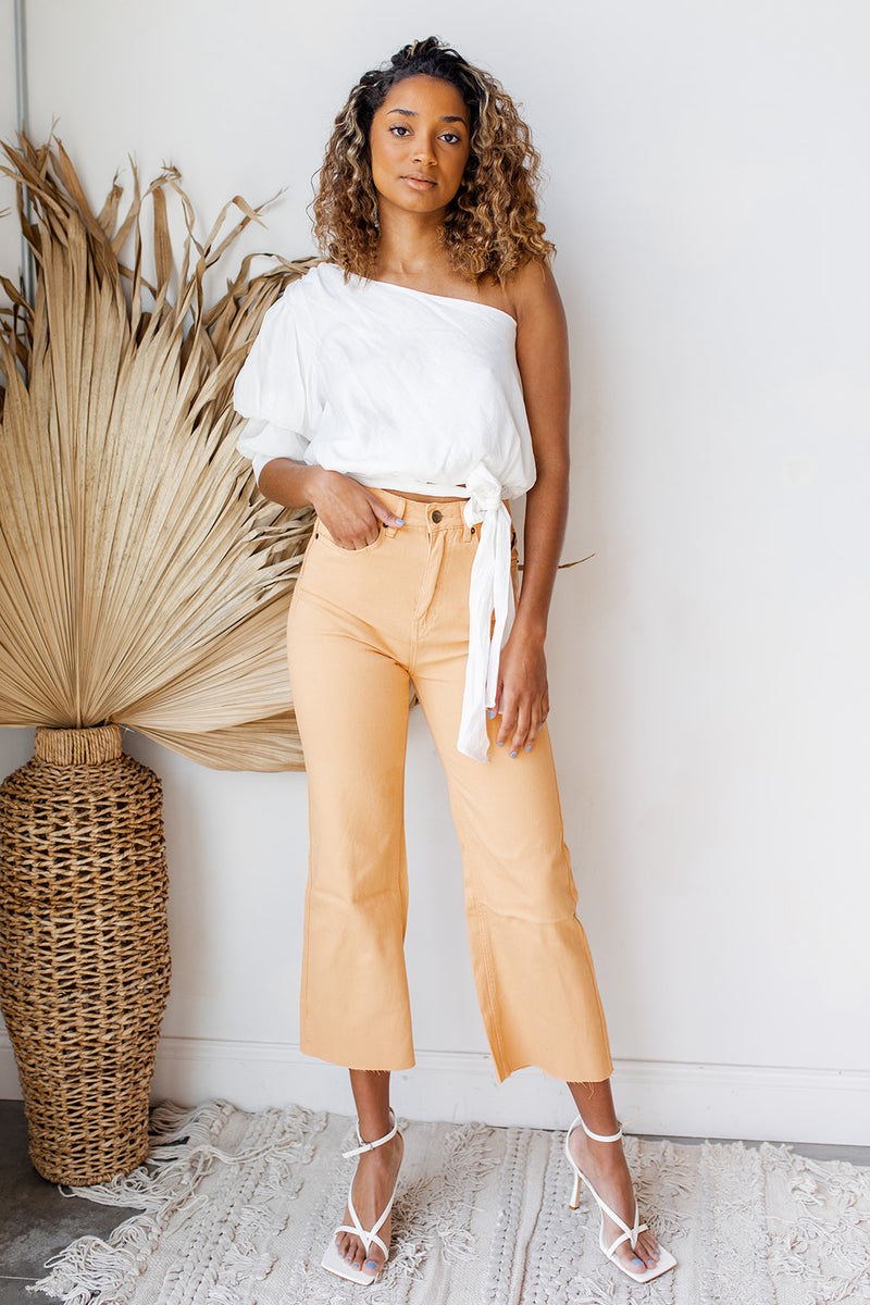 gabi crop flare wvn denim