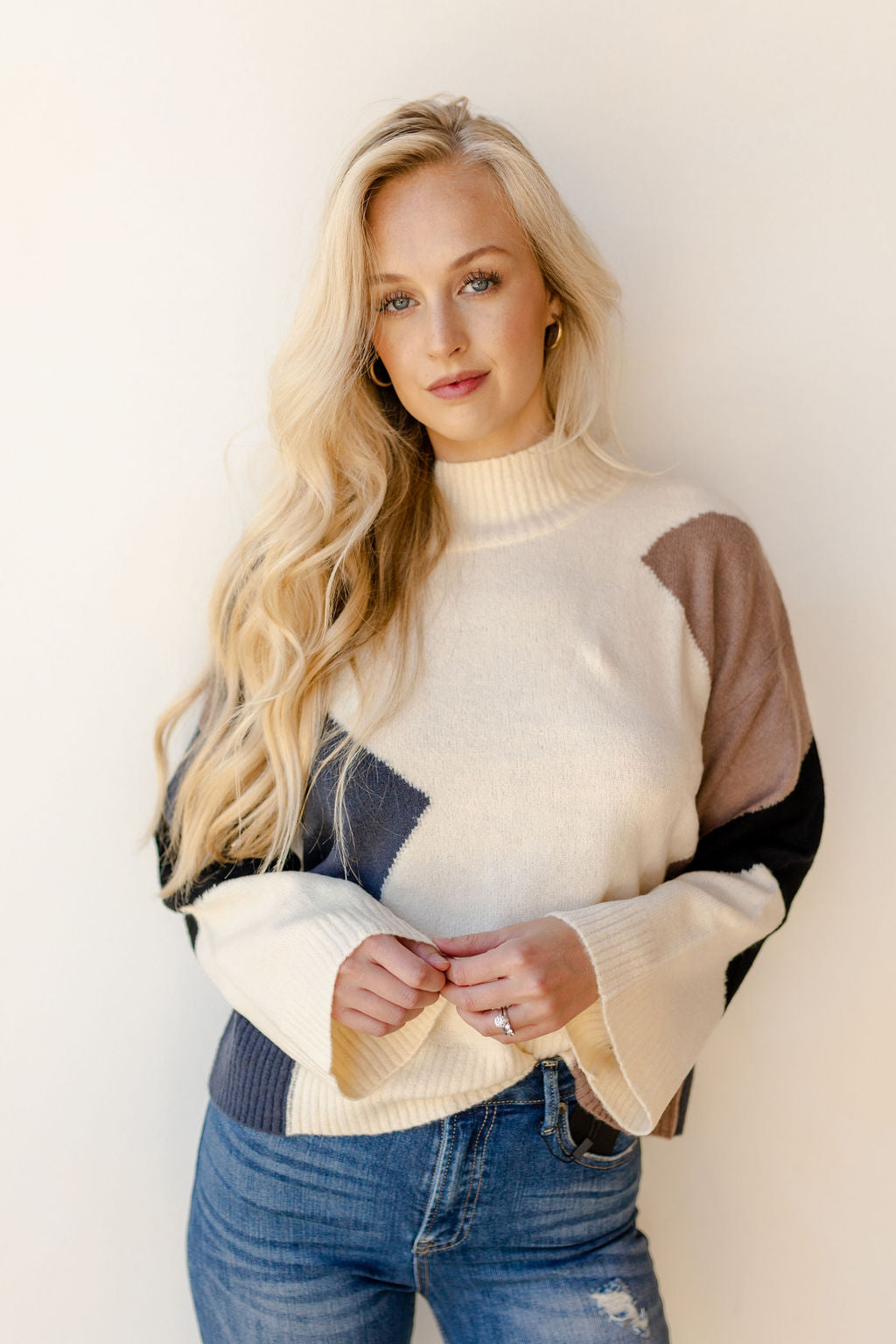 heartbeat colorblock sweater
