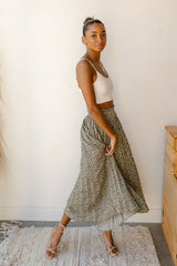 spotted pleated skirt