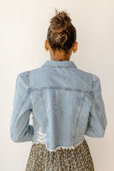 puff sleeve denim jacket