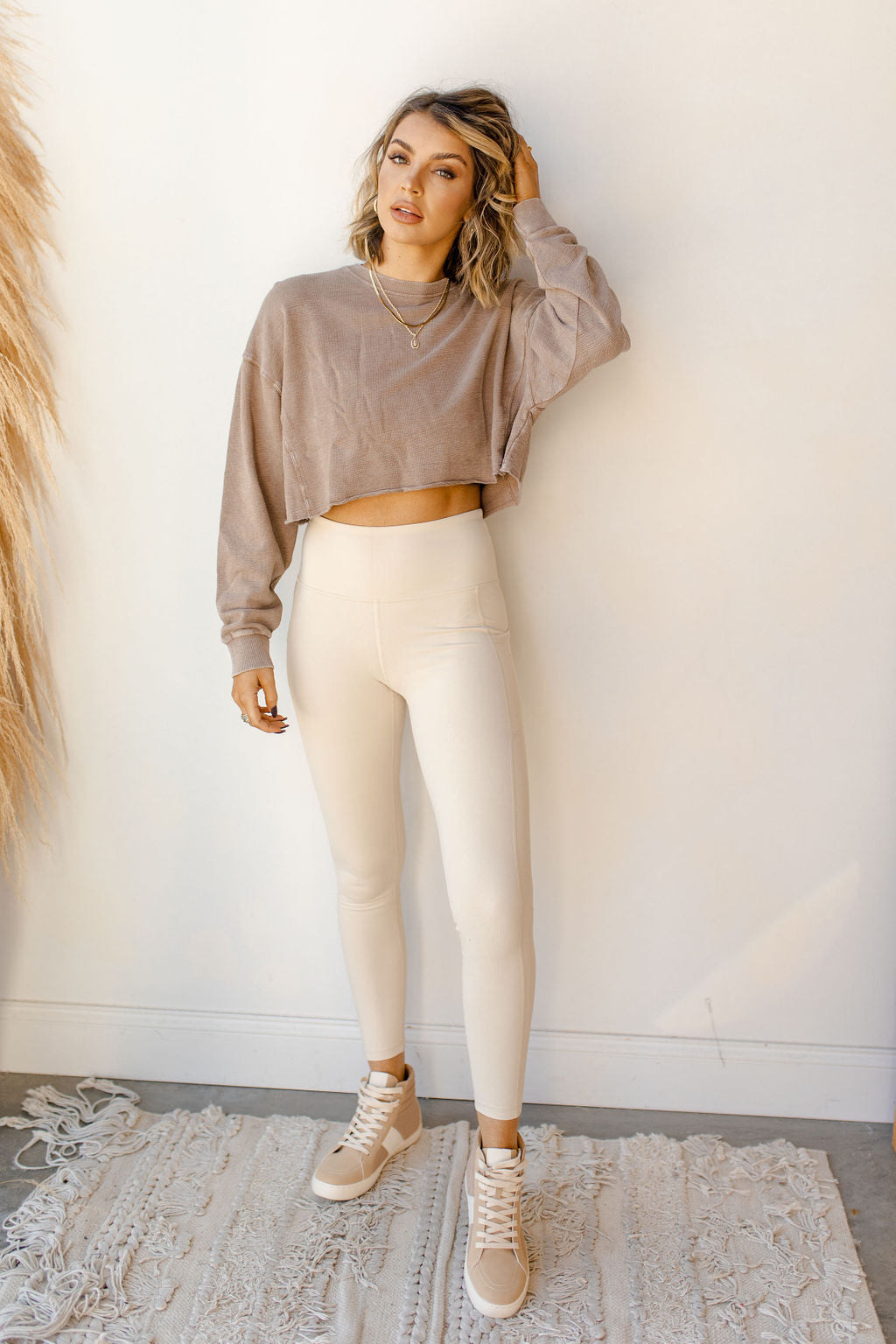 in the raw cropped sweater