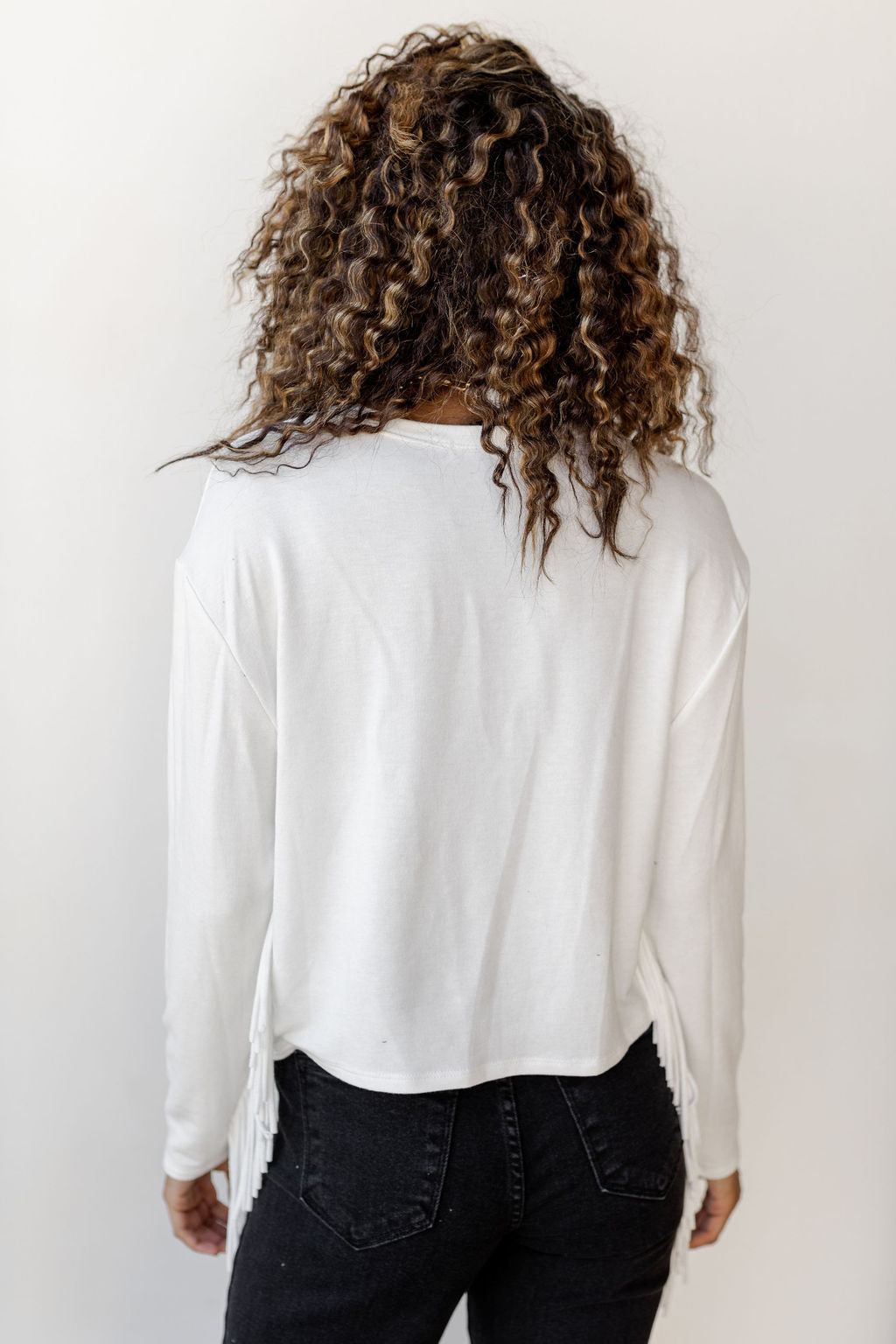 french fringe long sleeve