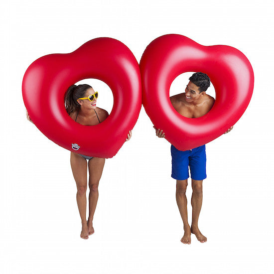 Giant double heart pool float