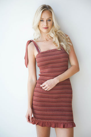 plum perfect rouched dress