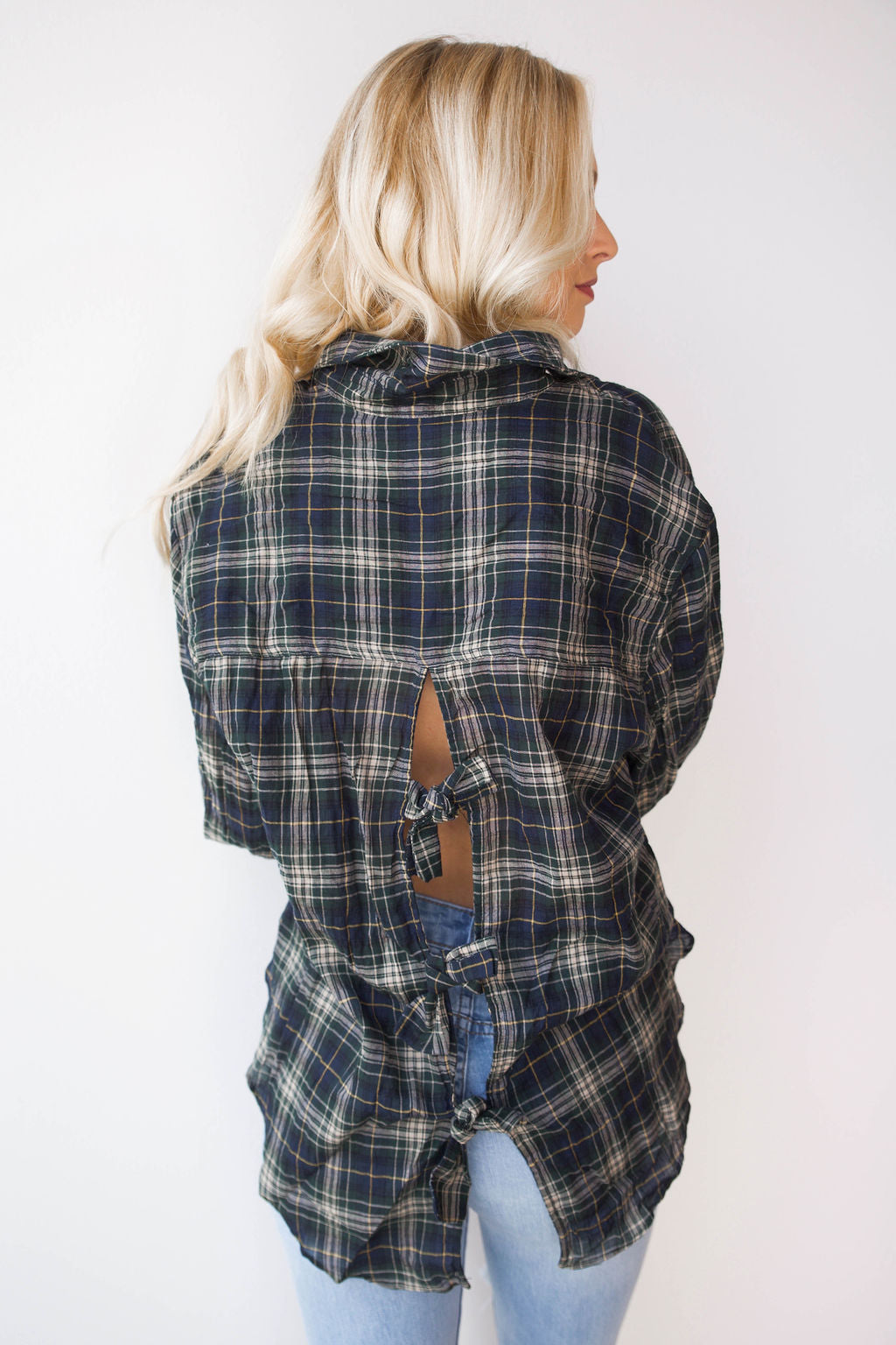 back ties plaid