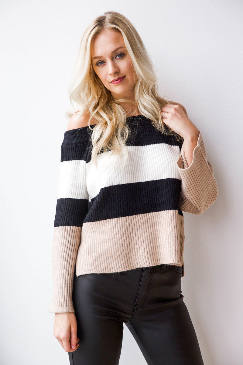 mode, shake it off striped sweater