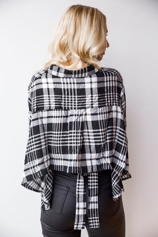 Diane plaid top