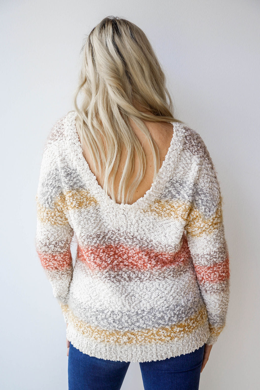 mode, survivor stripes sweater